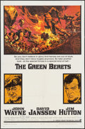 "Movie Posters:War, The Green Berets (Warner Brothers, 1968). One Sheet (27"" X 41"").War.. ..."