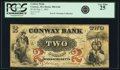 Obsoletes By State:Massachusetts, Conway, MA - Conway Bank $2 May 1, 1862 MA-500 G4b SENC. PCGS VeryFine 25.. ...