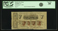 Obsoletes By State:Louisiana, Franklin, LA - Parish of St. Mary $5 Aug. 5, 1862. PCGS Very Fine 30.. ...