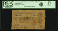 Obsoletes By State:Louisiana, Natchitoches, LA - Corporation of Natchitoches $3 Certificate of Deposit April 16, 1862. PCGS Fine 12 Apparent.. ...