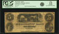 Obsoletes By State:Indiana, Lafayette, IN - Merchants' Bank $5 December 15, 1852 IN-310 G6, WVS 358-3. PCGS Fine 12 Apparent.. ...