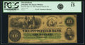 Obsoletes By State:Massachusetts, Pittsfield, MA - Pittsfield Bank $10 Raised from $1 June 10, 1861MA-990 R16 UNL. PCGS Fine 15.. ...
