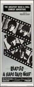"Movie Posters:Rock and Roll, A Hard Day's Night (Universal, R-1982). Insert (14"" X 36""). Rockand Roll.. ..."