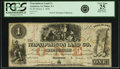 Obsoletes By State:Iowa, Anamosa, IA - Wapsipinicon Land Co. $1 Post Note March 2, 1858Oakes 3-1. PCGS Very Fine 25 Apparent.. ...