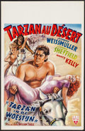 "Movie Posters:Adventure, Tarzan's Desert Mystery (RKO, 1940s). First Post-War ReleaseBelgian (14"" X 21.75""). Adventure.. ..."