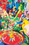 Fine Art - Work on Paper:Print, LeRoy Neiman (American, 1921-2012). Green Table, 1974.Silkscreen in colors on paper. 39-3/4 x 26 inches (101 x 66 cm)(...