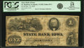 Obsoletes By State:Iowa, Ft. Madison, IA - State Bank of Iowa, Branch at Ft. Madison $1 Dec.10, 1859 IA-1 G102 SENC, Oakes 65-1. PCGS Fine 15 Apparent...