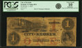 Obsoletes By State:Iowa, Keokuk, IA - City of Keokuk $1 Oct. 1, 1857 Oakes 80-1. PCGS Very Good 10 Apparent.. ...