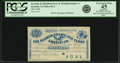 Obsoletes By State:Iowa, Keokuk, IA - Keokuk & Hamilton Ferry & Manufacturing Co. 20 Cents 1858 Oakes 82-2. Remainder. PCGS Extremely Fine 45 Apparent....