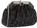"Luxury Accessories:Bags, Judith Leiber Black Embroidered Lizard Evening Bag. Very Good Condition. 9.5"" Width x 6"" Height x 2"" Depth. ..."