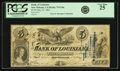 Obsoletes By State:Louisiana, New Orleans, LA - Bank of Louisiana $5 Forced Issue May 22, 1862 LA-75 G10c. PCGS Very Fine 25.. ...