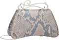 "Luxury Accessories:Bags, Judith Leiber Gray Python Evening Bag. Excellent Condition. 7"" Width x 4"" Height x 2"" Depth. ..."