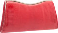 "Luxury Accessories:Bags, Judith Leiber Red Lizard Clutch Bag. Excellent Condition.10.5"" Width x 5"" Height x 2"" Depth. ..."