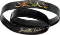 """Luxury Accessories:Accessories, Judith Leiber Black Lizard Belt with Jeweled Buckle. ExcellentCondition. 1"""" Width x 36"""" Length. ..."""