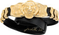 "Luxury Accessories:Accessories, Judith Leiber Black Lizard Belt with Lion Buckle. ExcellentCondition. 1.25"" Width x 36"" Length. ..."