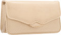 "Luxury Accessories:Bags, Judith Leiber Beige Karung Flap Evening Bag. Very Good to Excellent Condition. 6.5"" Width x 3.5"" Height x 2.5"" Depth..."