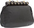 "Luxury Accessories:Accessories, Judith Leiber Black Karung Shoulder Bag with Gold Hardware. VeryGood Condition. 9"" Width x 6"" Height x 1"" Depth. ..."