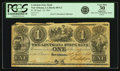 Obsoletes By State:Louisiana, New Orleans, LA - Louisiana State Bank $1 Sept. 18, 1861 LA-80 G2. PCGS Very Fine 30 Apparent.. ...