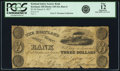 Obsoletes By State:Ohio, Kirtland, OH - Kirtland Safety Society Bank $3 March 9, 1837 OH-245G6, Wolka 1424-08, Rust 6, Nyholm 3var. PCGS Fine 12 Appar...