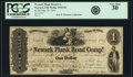 Obsoletes By State:Ohio, Newark, OH - Newark Plank Road Company $1 May 20, 1851 Wolka1935-02. PCGS Very Fine 30.. ...