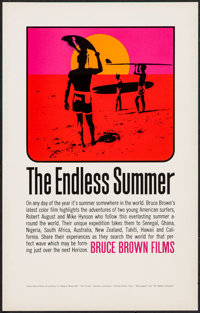 "The Endless Summer (Bruce Brown Films, 1966). First Release Poster (11"" X 17""). Sports"
