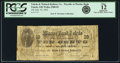 Obsoletes By State:Ohio, Toledo, OH - Toledo & Wabash Railway Co. pay at Marine Bank,Toledo 10 Cents July 10, 1862 Wolka 2580-02. PCGS Fine 12Apparen...