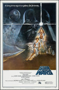 "Movie Posters:Science Fiction, Star Wars (20th Century Fox, 1977). First Printing One Sheet (27"" X41"") Flat Folded No Ratings Box Style A. Science Fiction..."