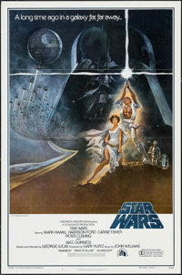 "Star Wars (20th Century Fox, 1977). First Printing One Sheet (27"" X 41"") Flat Folded No Ratings Box Style A. S..."