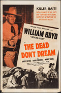 """Movie Posters:Western, The Dead Don't Dream (United Artists, 1948). One Sheet (27"""" X 41""""). Western.. ..."""