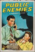 """Movie Posters:Crime, Public Enemies & Other Lot (Republic, 1941). One Sheets (2)(27"""" X 41""""). Crime.. ... (Total: 2 Items)"""