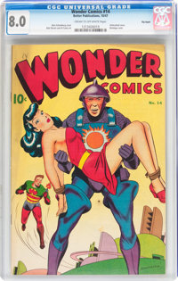 Wonder Comics #14 Big Apple pedigree (Better Publications, 1947) CGC VF 8.0 Cream to off-white pages