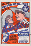 """Movie Posters:Black Films, Harlem on the Prairie (Toddy Pictures, R-1940s). One Sheet (28"""" X42""""). Black Films.. ..."""