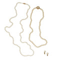 Estate Jewelry:Lots, Cultured Pearl, Gold, Yellow Metal Jewelry. ...