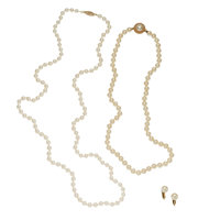 Cultured Pearl, Gold, Yellow Metal Jewelry