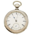Timepieces:Pocket (pre 1900) , Waltham Appleton Tracy & Co. Model 57 In 4 Ounce Silver Case,circa 1865. ...