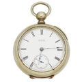 Timepieces:Pocket (pre 1900) , Waltham Model 79 Wm. Ellery Nickel Key Wind. ...