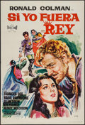 "Movie Posters:Adventure, If I Were King (Exclusivas Floralva, R-1965). Spanish One Sheet(26"" X 38.5""). Adventure.. ..."