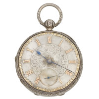 Swiss Fancy Dial Silver Lever Fusee