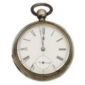 "Timepieces:Pocket (pre 1900) , Illinois ""Diurnal"" Silver Key Wind. ..."