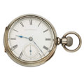 "Timepieces:Pocket (pre 1900) , Illinois ""No. 80, Cincinnati"" 18 Size Transitional Key Wind Or StemWind. ..."