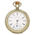 Timepieces:Pocket (pre 1900) , Waltham Ornately Damaskeened Model 83. ...