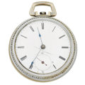 Timepieces:Pocket (pre 1900) , John Ellery, Boston Mass. Interesting Early American Key Wind Copy,circa 1860's. ...