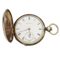 "Timepieces:Pocket (pre 1900) , Illinois Silver ""Hoyt"" Key Wind. circa 1872. ..."