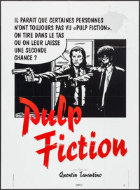 "Pulp Fiction (Bac Films, 1994). French Grande (45.5"" X 62.5"") Second Chance Style. Crime"