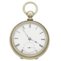 "Timepieces:Pocket (pre 1900) , Waltham ""Home Watch Co."" Model 57 Key Wind. ..."