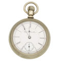 Timepieces:Pocket (pre 1900) , Elgin 17 Jewel 18 Size Runner, circa 1890. ...