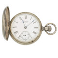 Timepieces:Pocket (pre 1900) , Waltham 18 Size Silver Hunters Case. ...