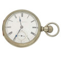 "Timepieces:Pocket (pre 1900) , Illinois Rare ""Ajax"" Transitional . ..."