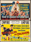 "Movie Posters:Musical, Three for the Show & Other Lot (Columbia, 1955). Belgians (2) (14.25"" X 21.5,"" 15"" X 21.75""). Musical.. ... (Total: 2 Items)"