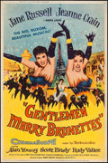 "Movie Posters:Musical, Gentlemen Marry Brunettes (United Artists, 1955). Poster (40"" X 60""). Musical.. ..."